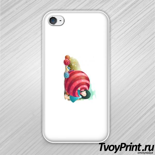 Чехол iPhone 4S Чупа-чупс и девочка