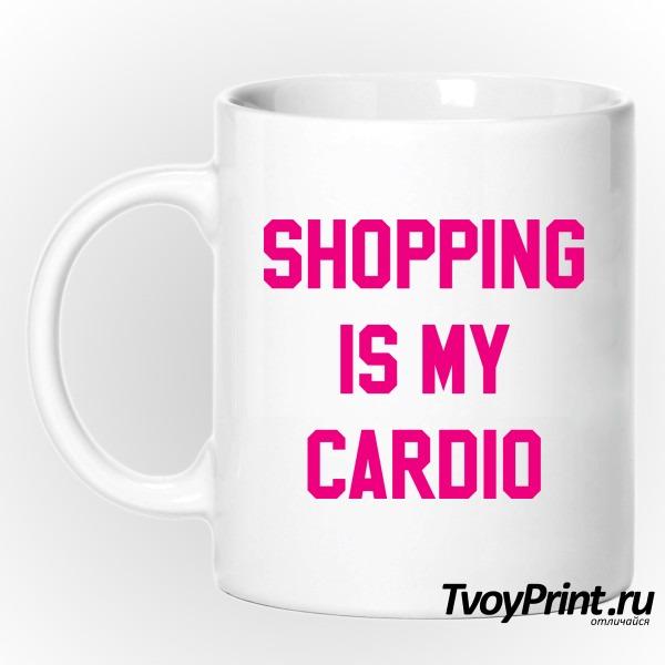 Кружка shopping is my cardio