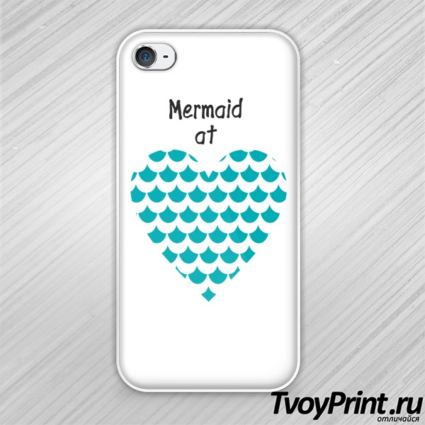 Чехол iPhone 4S Mermaid at love