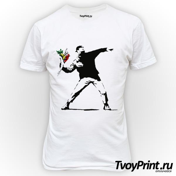 Футболка Banksy Flowers