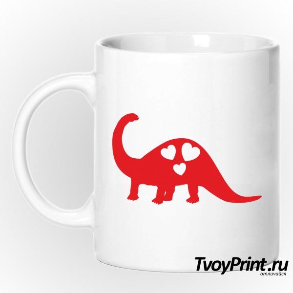 Кружка Влюбленный динозавр (правый)