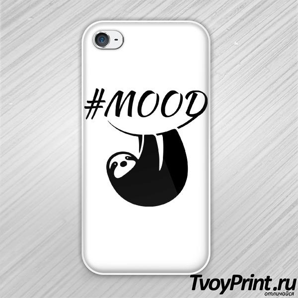 Чехол iPhone 4S Настроение: ленивец