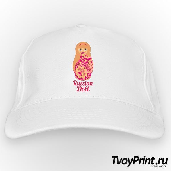 Бейсболка Матрешка блондинка pink