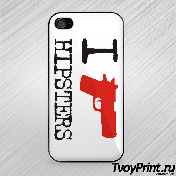 Чехол iPhone 4S I Shoot Hipsters