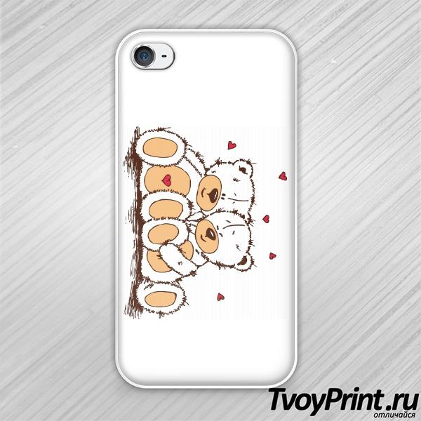 Чехол iPhone 4S Мишки Тедди