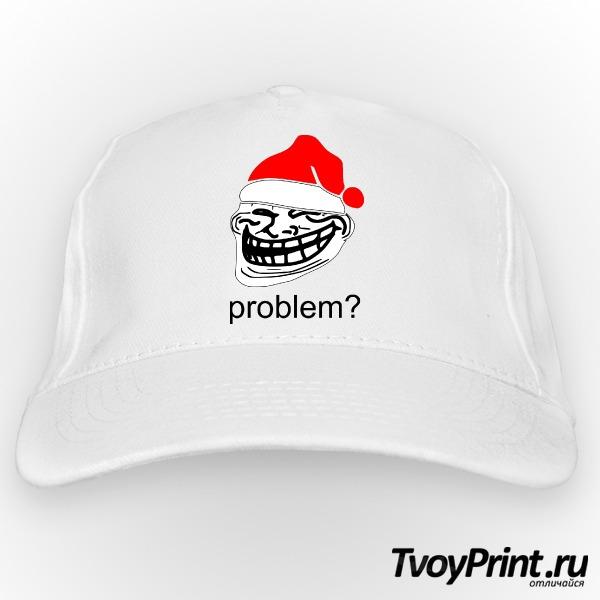 Бейсболка новогодний Trollface