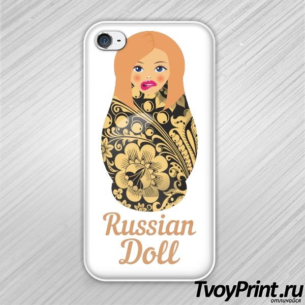 Чехол iPhone 4S Матрешка блондинка short