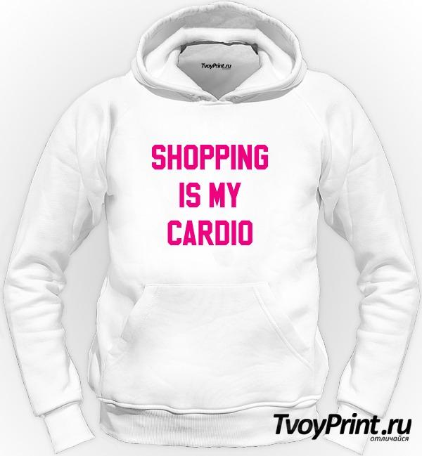 Толстовка shopping is my cardio