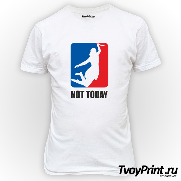 Футболка no today (nba)