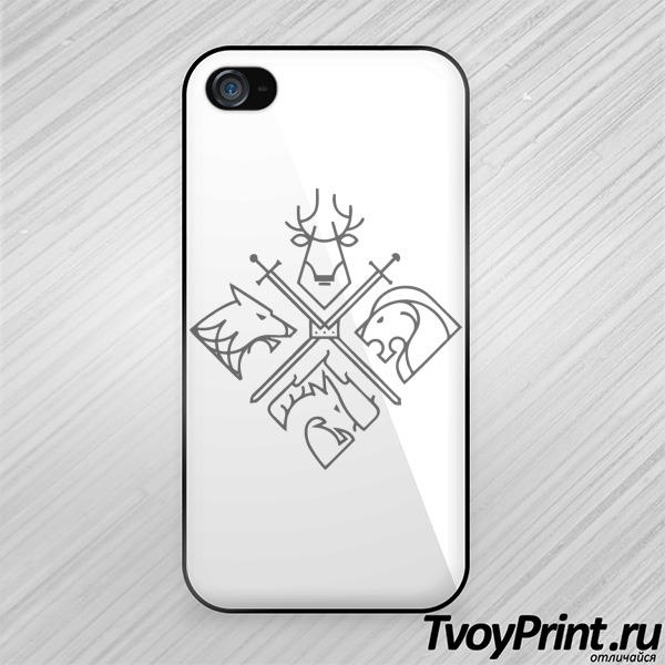 Чехол iPhone 4S 4 герба