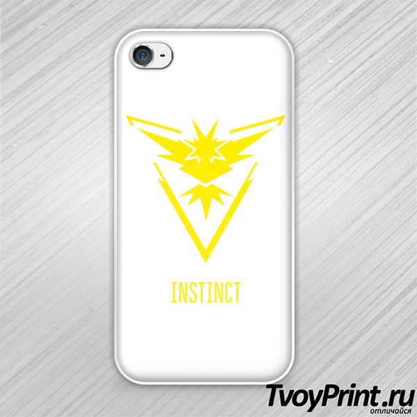 Чехол iPhone 4S Yellow Team Instinct Pokemon Go Желтая команда