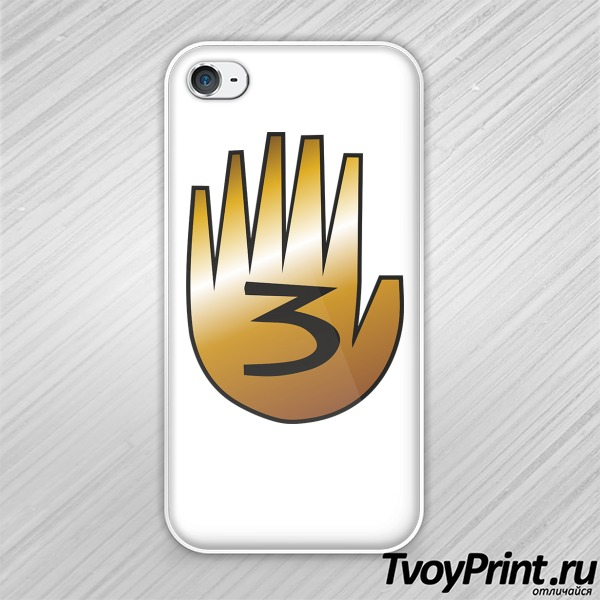 Чехол iPhone 4S шестипалая рука Гравити фолз