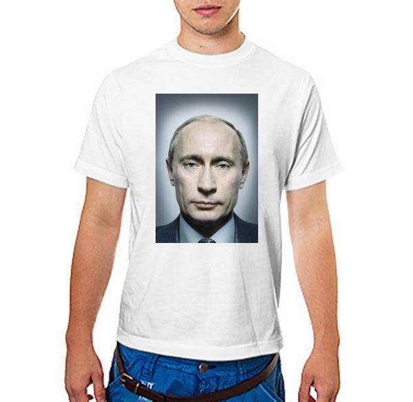 Футболка с Путиным портрет