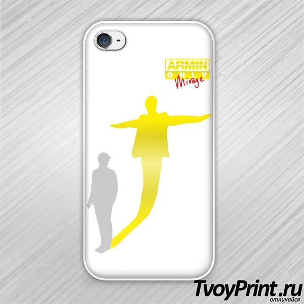 Чехол iPhone 4S Armin Van Buuren золото