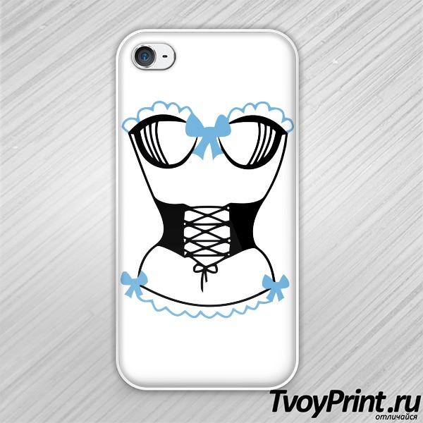 Чехол iPhone 4S корсет