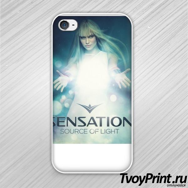 Чехол iPhone 4S Sensation source of light
