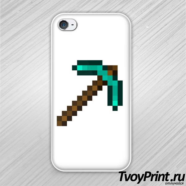 Чехол iPhone 4S Minecraft Кирка