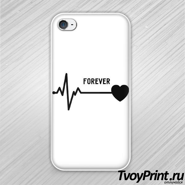Чехол iPhone 4S forever love