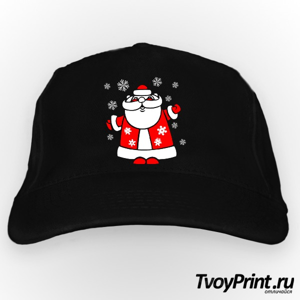 Бейсболка Дед Мороз со снежинками