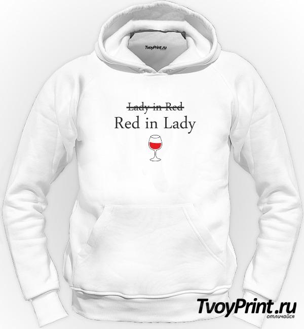 Толстовка Lady in red