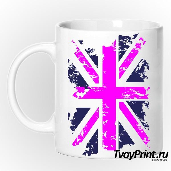 Кружка Флаг Великобритании (роз.)