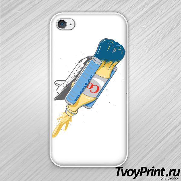 Чехол iPhone 4S В космос на Коке