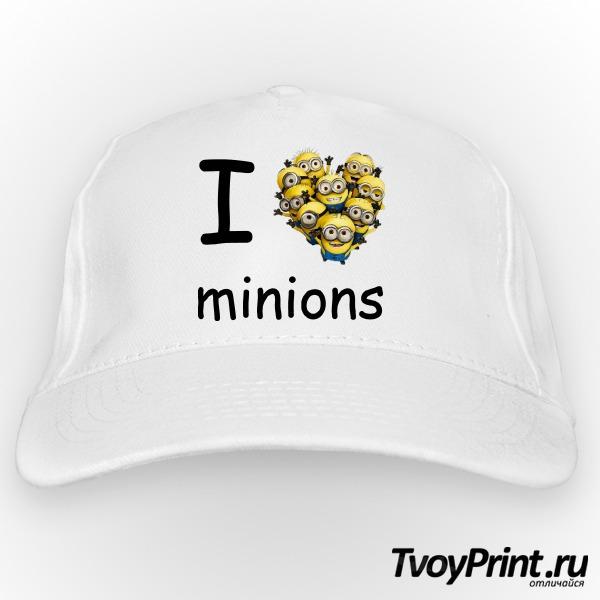 Бейсболка I love minion (миньон)