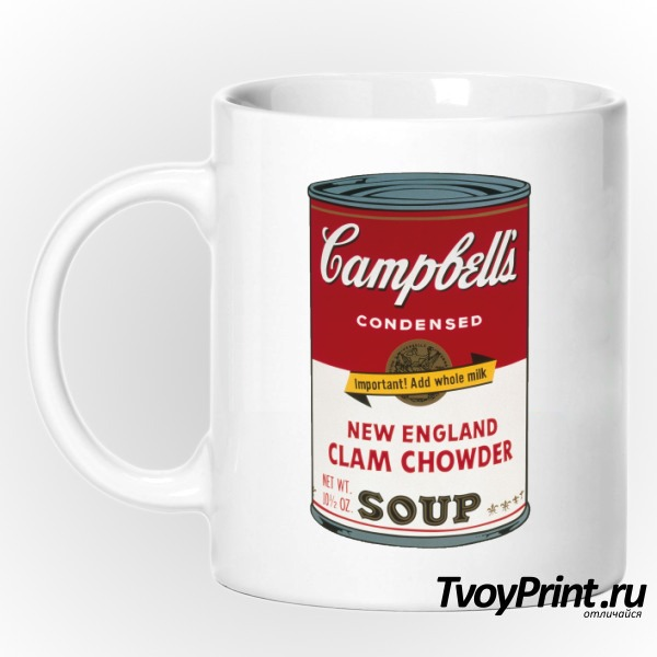 Кружка Andy Warhol campbell soup