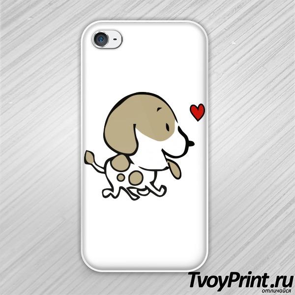 Чехол iPhone 4S Собака
