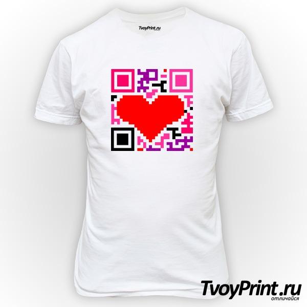Футболка QR-код  love