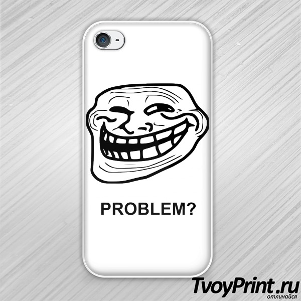 Чехол iPhone 4S Trollface