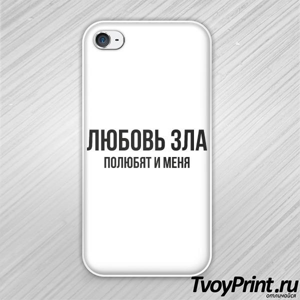 Чехол iPhone 4S Любовь зла
