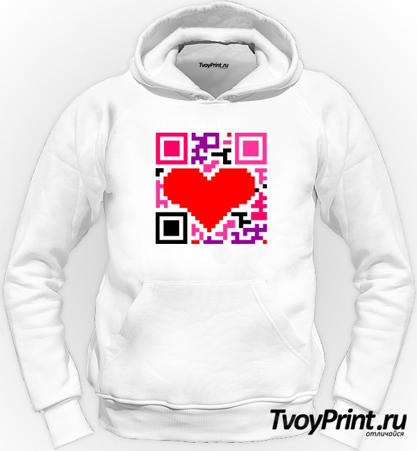Толстовка QR-код  love