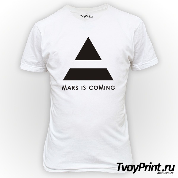 Футболка 30 seconds to mars is coming