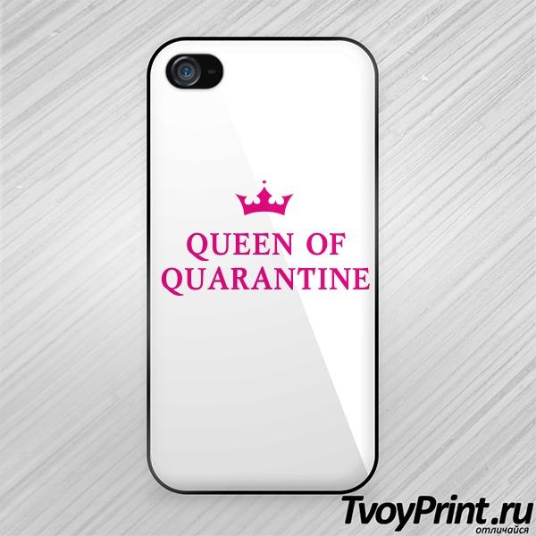 Чехол iPhone 4S QUEEN OF QUARANTINE
