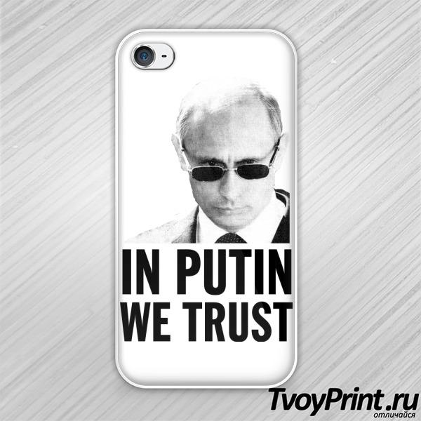 Чехол iPhone 4S Мы верим в Путина