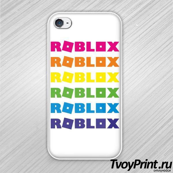 Чехол iPhone 4S roblox радуга