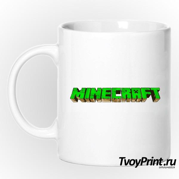 Кружка Майнкрафт Логотип Зеленый