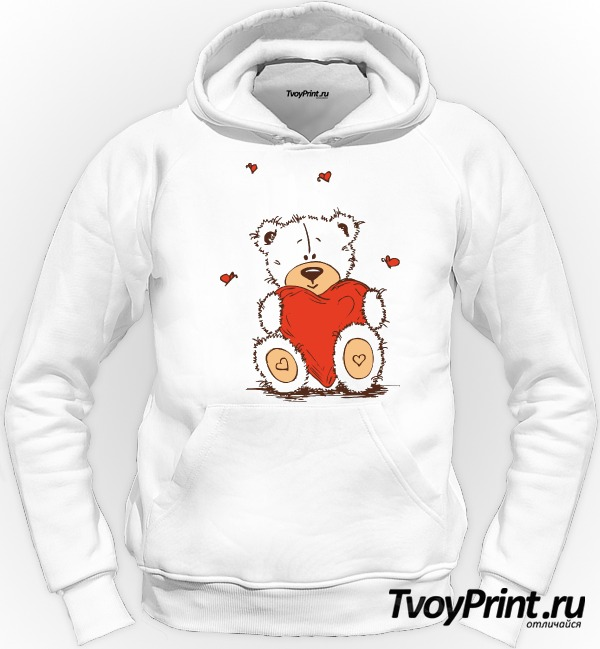 Толстовка Тедди с сердцем