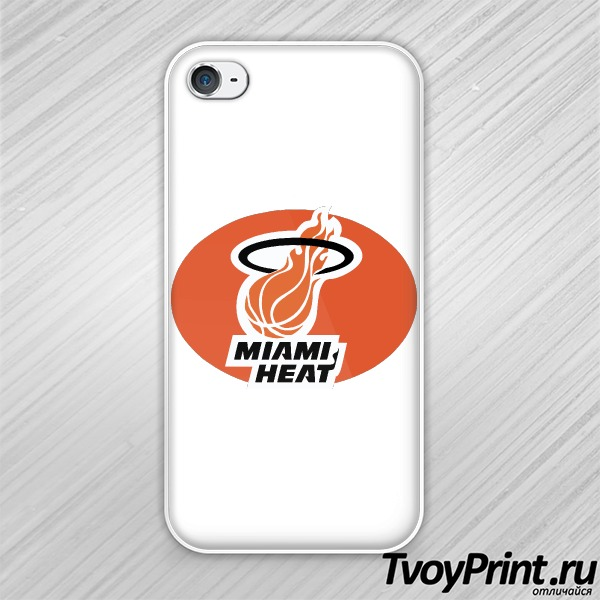 Чехол iPhone 4S Miami Heat