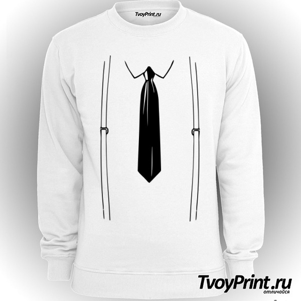 Свитшот подтяжки и галстук