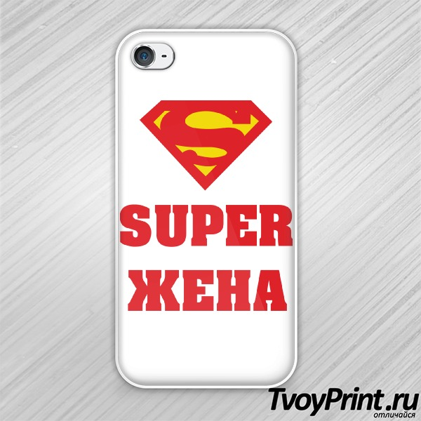 Чехол iPhone 4S Super Жена