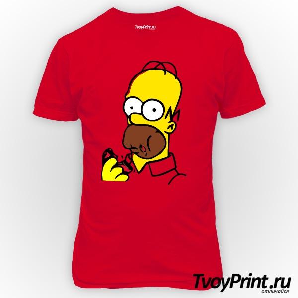 Футболка Гомер с пончиком