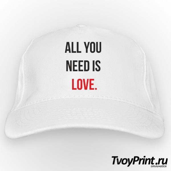 Бейсболка all you need is love