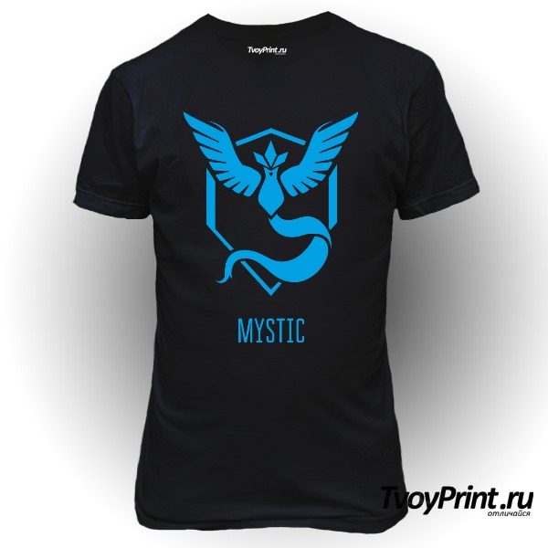 Футболка Blue Team Mystic Pokemon Go Синяя команда