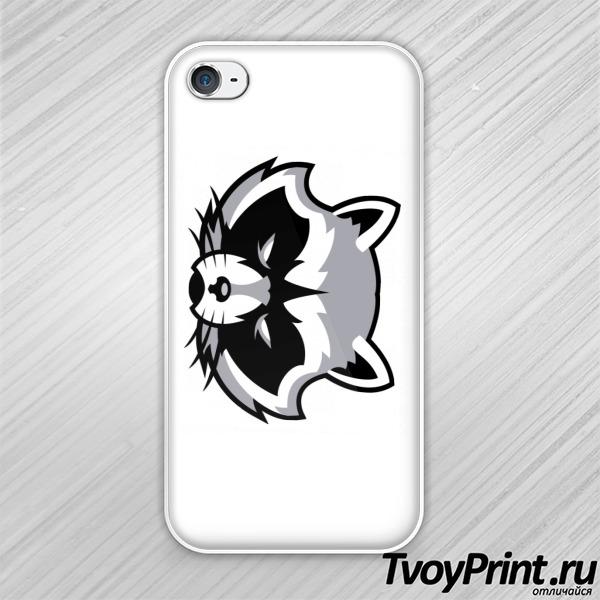 Чехол iPhone 4S Сердитый енот