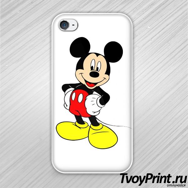Чехол iPhone 4S Микки-маус полный рост