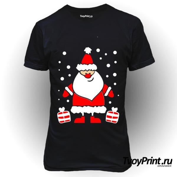 Футболка Дед Мороз улыбается