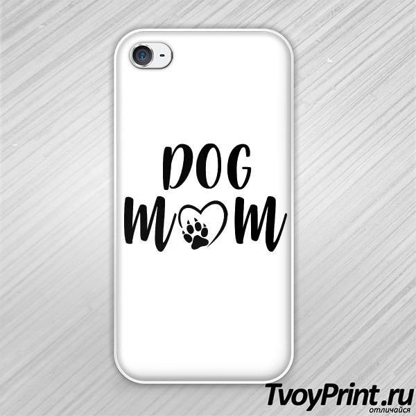 Чехол iPhone 4S Dog mom