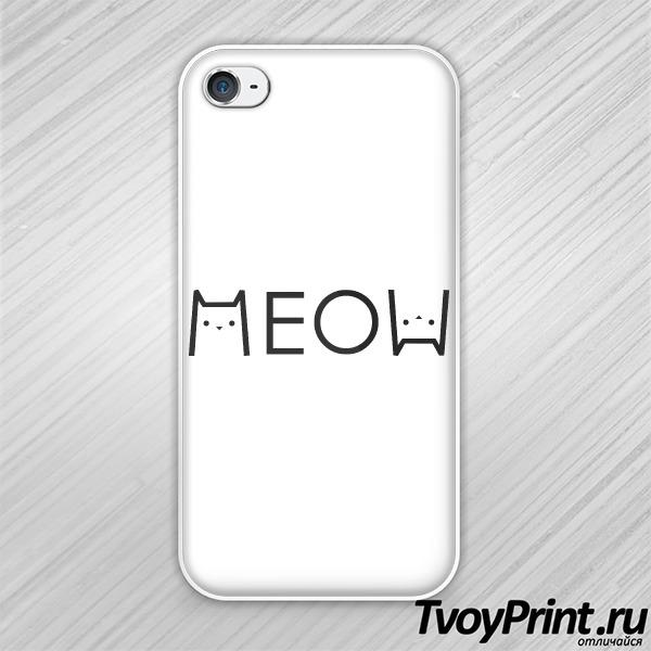 Чехол iPhone 4S МЯУ